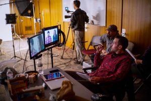 Boston New England Director Ben Consoli Directing a video for WPI