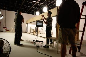 Boston Director Ben Consoli directing a commercial for Indeed